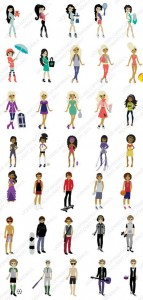 Paper Dolls Teen Scene Sample Images