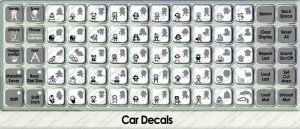 car decals overlay
