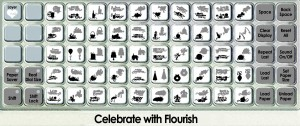celebrate with flourish overlay