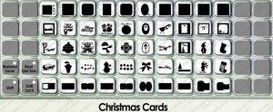 Christmas cards overlay