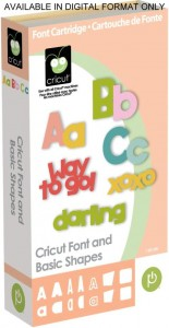 cricut font and basic shapes binder