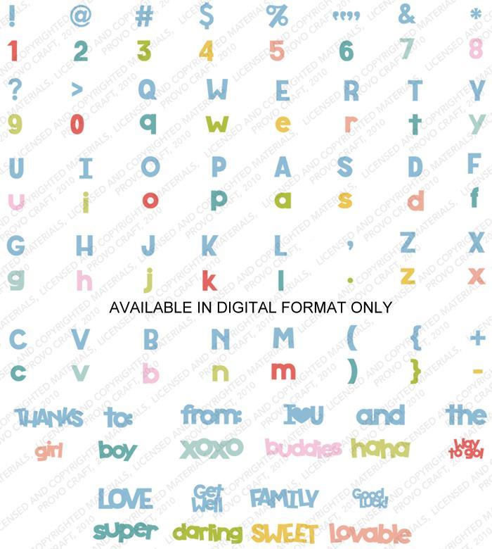 Cricut Font and Basic Shapes Cartridge