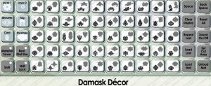 damask decor overlay