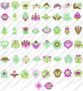 damask decor sample images