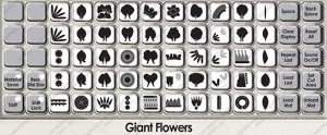 giant flower overlay