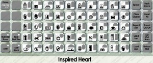 inspired heart overlay
