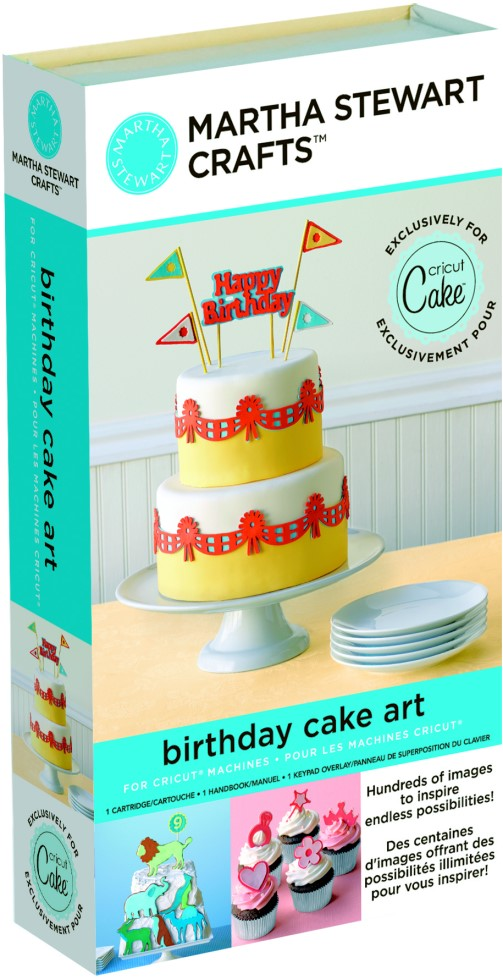Martha Stewart Crafts Birthday Cake Art Cricut Cartridge