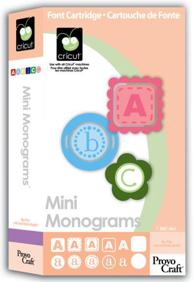 Cricut Font Cartridges OPPOSITES ATTRACT or Mini Monograms LN