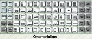 ornamental iron overlay