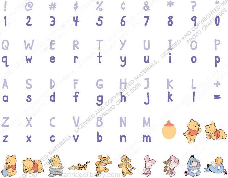 Disney Pooh Font Cricut Cartridge