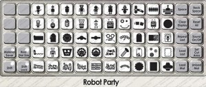 robot party overlay