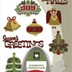 scandinavian christmas cards package